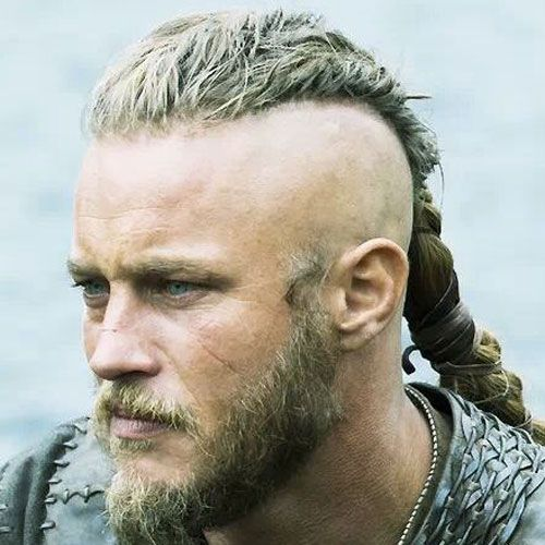 Braided Part Viking Hairstyle
