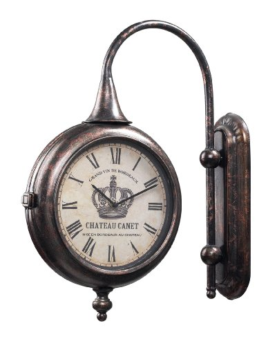 Bronze Antique Double- Sided Clock