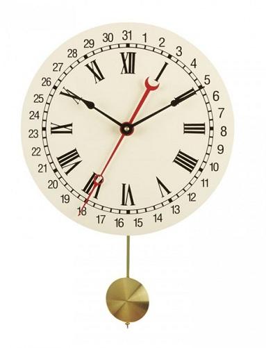 Calendar Quartz Pendulum Clock
