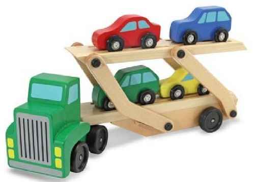 Car carrier wooden Toy Birthday Gifts