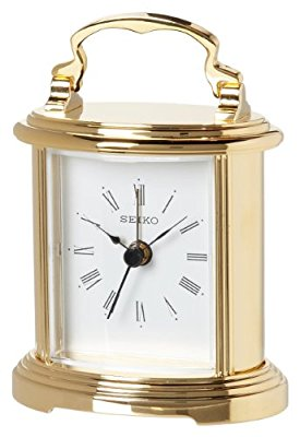 Carriage Gold Desk Clocks