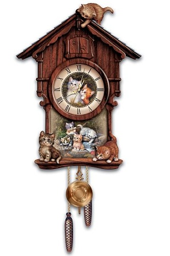Charming Kittens and Cat cuckoo Clocks