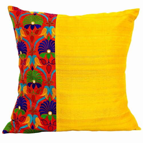 Charming Yellow Decorative Pillows