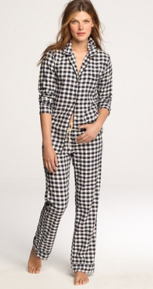 Checked Black and White Pajama Set