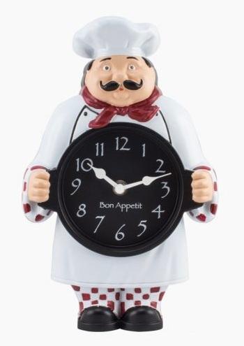 Chef Kitchen Clock