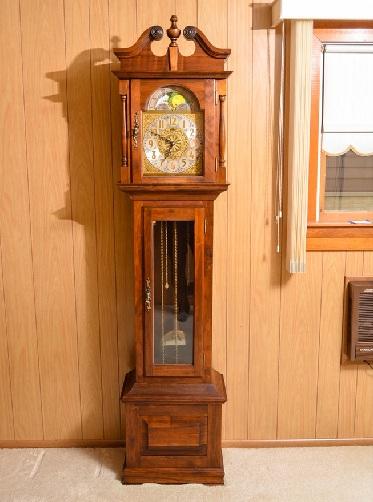 Cherry Wood Cased Emperor Grandfather Clocks
