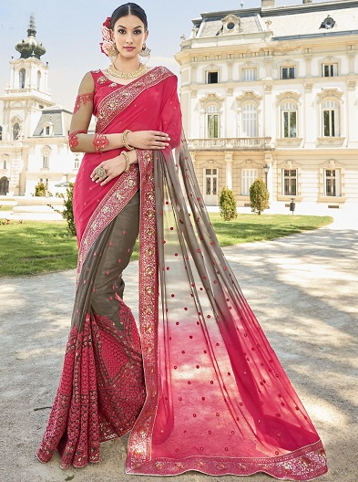 793ff5981c Heavy Work Sarees - These 15 Beautiful Sarees That You Looks in Regal!