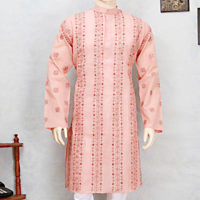 Chikan Embroidered Kurta Birthday Gifts For Men