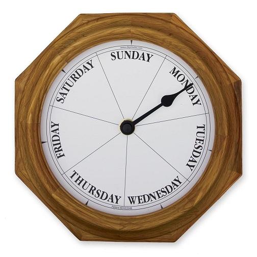 Classic Oak Day Clock