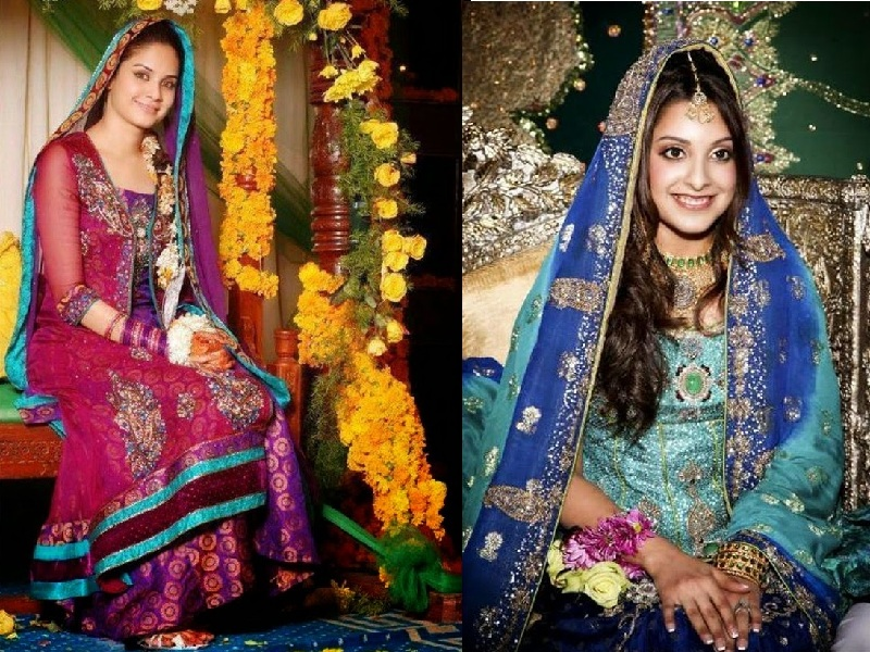 Color Dresses to Wear for Mehndi Function