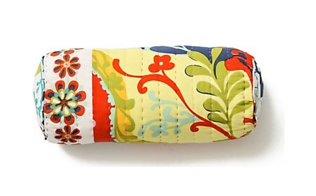 Contrasting Fabric Bolster Pillows