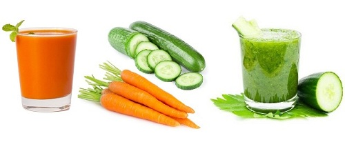 Cucumber Juice with Carrot