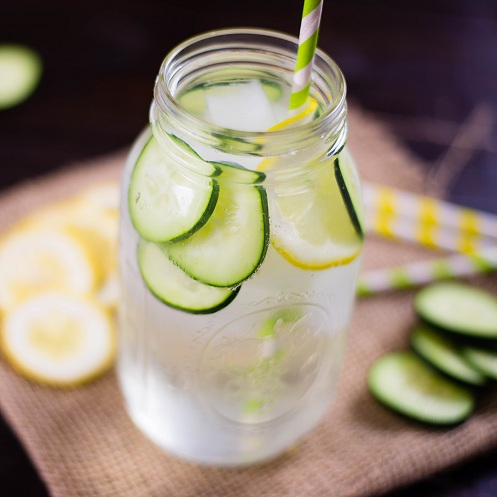 Cucumber with Lemon Water