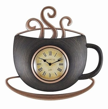 Cup Kitchen Clock