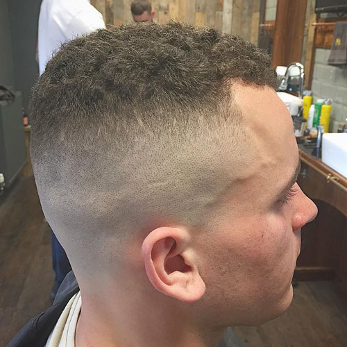 Curly Hair High and Tight Haircuts