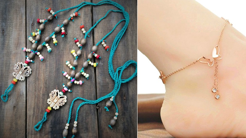 Cute Butterfly Anklets in Different Designs