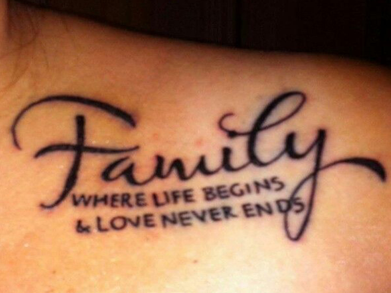 Love life ends and never begins where tattoo 45 Tattoo