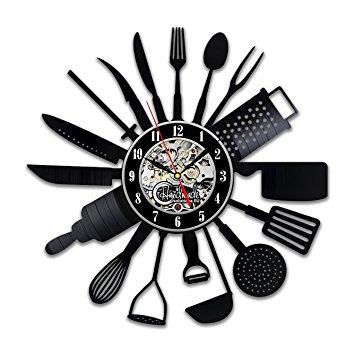 Cutlery Kitchen Utensil Wall Clock