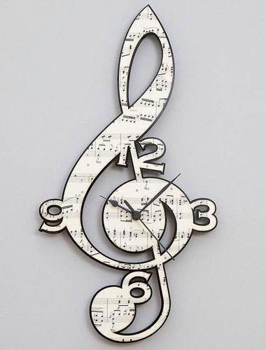 Designer Music Clock