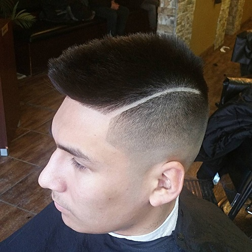 Faded Faux Mohawk with Line up
