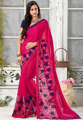 cda15e396e Top 20 Trendy Chiffon Sarees For Stylish You | Styles At Life