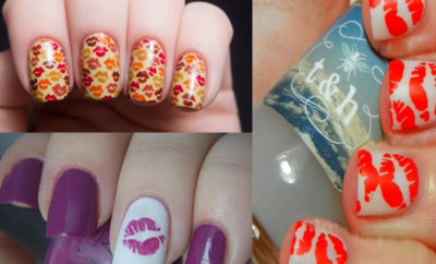 Fantastic Kiss Nail Art Designs