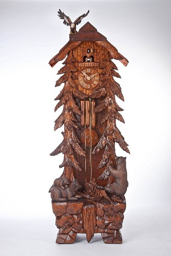 Forest Themed Grandfather Cuckoo Clocks