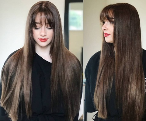 Front Bang Long Hairstyles