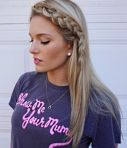 Front Braid Long Hairstyles