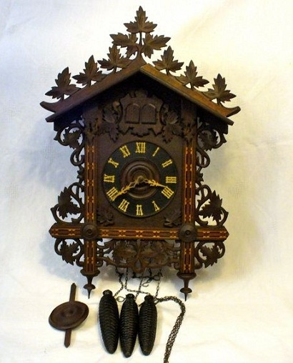 Fully Decorated Antique Cuckoo Clocks