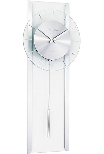 Glass Pendulum Wall Clock