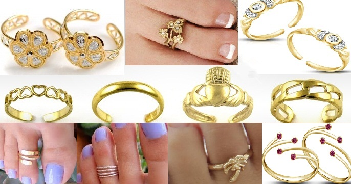 Gold Toe Rings Designs