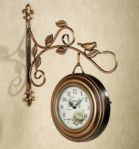Gold Plated Hanging Clock