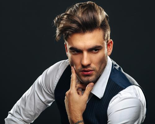 Portrait of Handsome Man in Studio