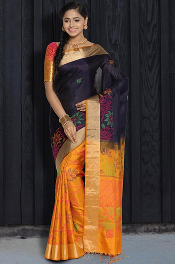 6f54371f0d48a 40 Best Half and Half Sarees In Various Combinations