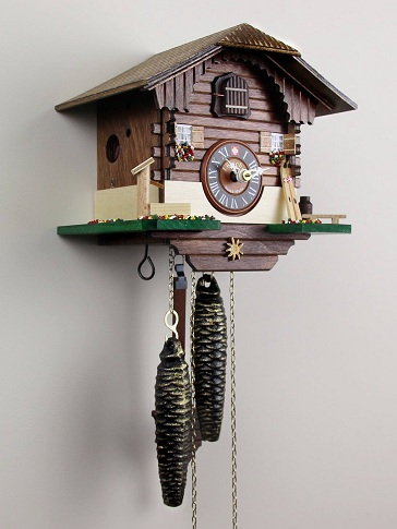 Hand Painted chalet Cuckoo Clocks