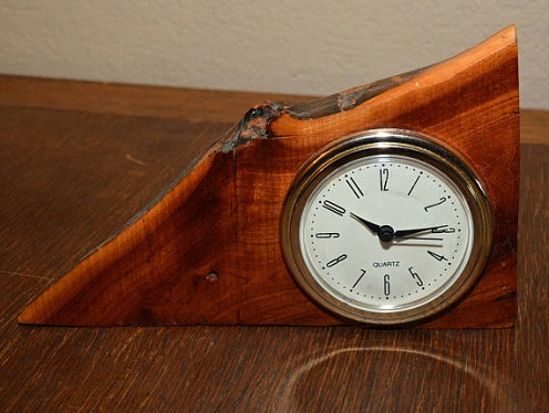 Handmade Wooden Desk Clocks