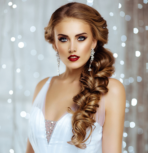Heavy Braid Bridal Hairstyle