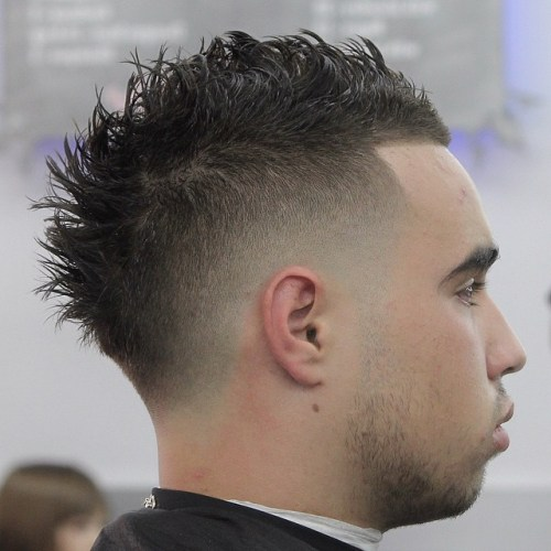 High Bald Fade with Spiky Faux Hawk