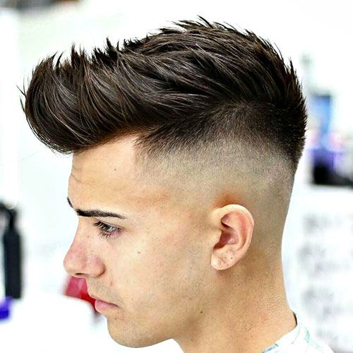 High Low Fade with Textured Spiky Hair