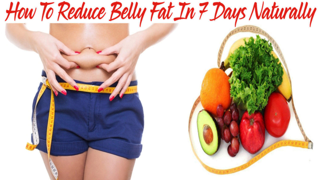 Natural foods to reduce tummy fat