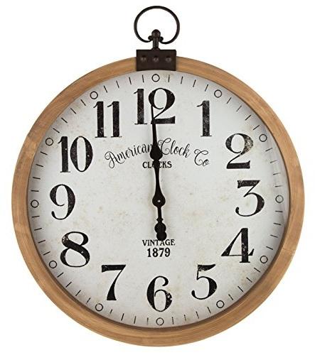 Huge Vintage Wood Wall Clock
