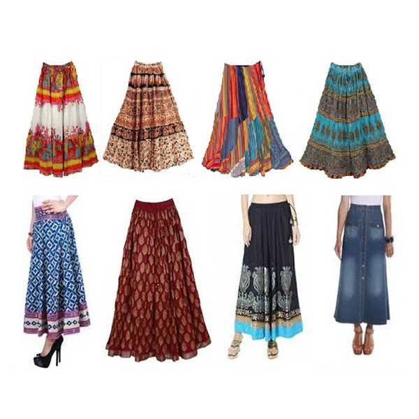 Indian Style Cotton Skirts for Ladies