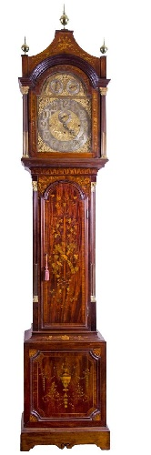 Inlaid Chiming Clock