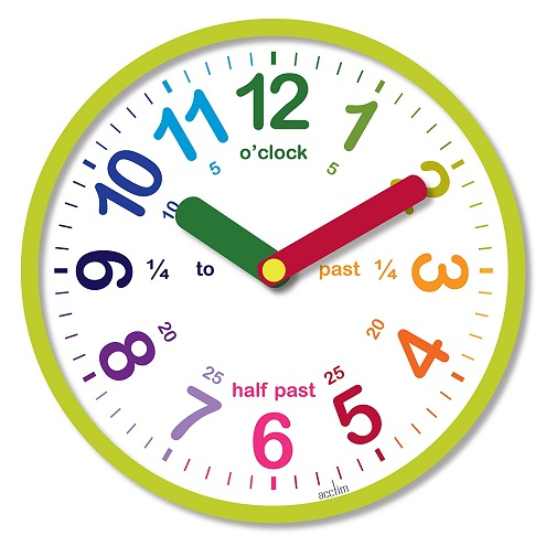 Kids Clock with Information