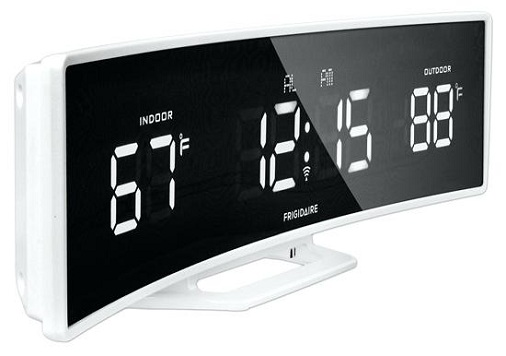 Large Curved Display Atomic Clock