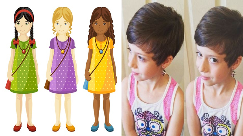 Latest Short Hairstyles for Little Girls 2018