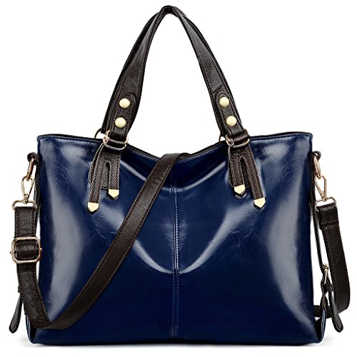 Leather Smooth Roomy Shoulder Bag