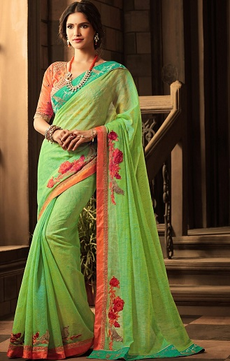 4be1448b79e73a Top 20 Green Sarees That Never Go Out Of Fashion | Styles At Life