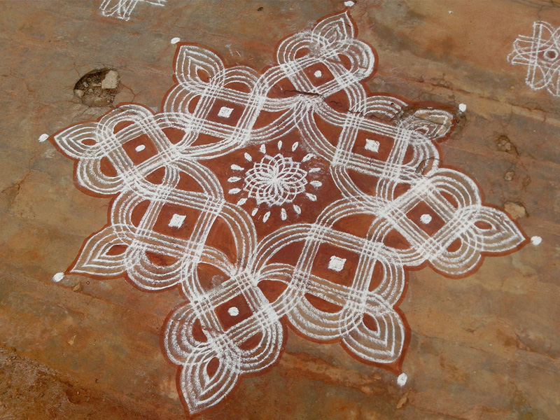 Line Rangoli Designs and Patterns
